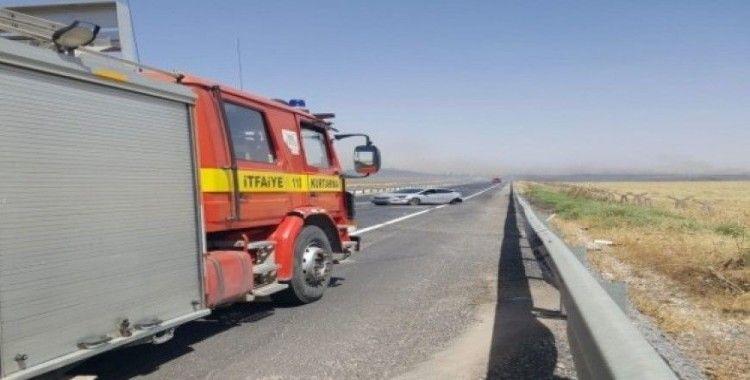 Anız yangınının neden olduğu kazada 5 kişi yaralandı