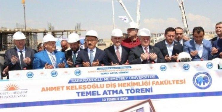 Karaman'da Ahmet Keleşoğlu Diş Hekimliği Fakültesinin temeli atıldı