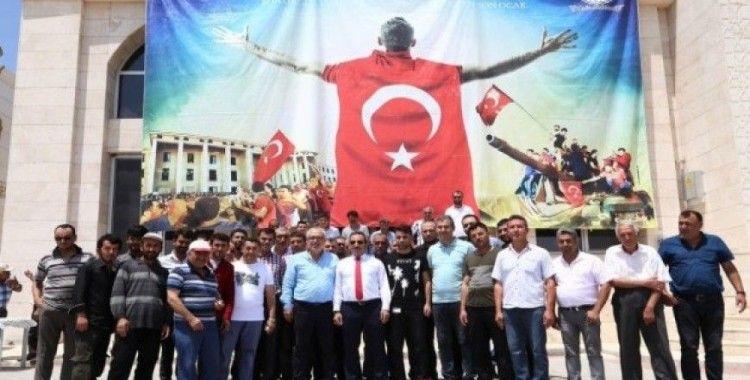 Aksaray Ticaret Borsasında 15 Temmuz duası