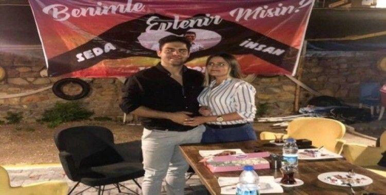 Genç polis memurundan romantik evlenme teklifi