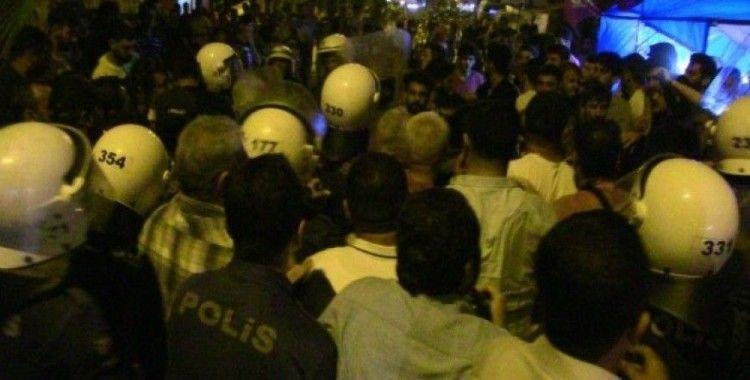 Samandağ'da izinsiz eyleme müdahale
