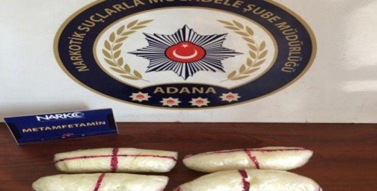 Koltuğun sırt bölümünde 473 gram uyuşturucu ele geçirildi