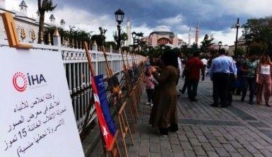 Sultanahmet'teki 15 Temmuz Sergisi turistlerden büyük ilgi görüyor