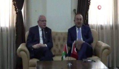 Bakan Çavuşoğlu, Filistinli mevkidaşı Malki ile görüştü