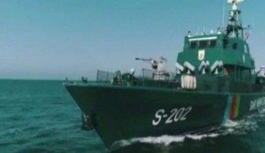 Hazar Denizi'nde batan İran gemisinin görüntüleri yayınlandı