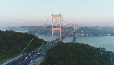 Çalışmanın bittiği FSM Köprüsü havadan görüntülendi