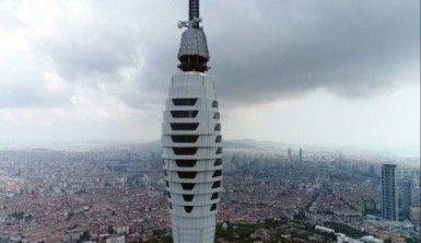 Çamlıca Kulesi'nde gelinen son durum havadan görüntülendi