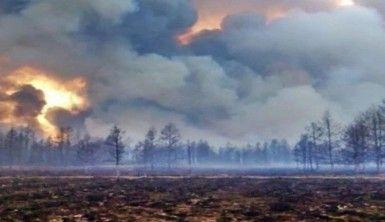 Sibirya yangını için Rus askeri uçağı