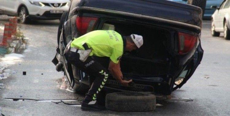Başkentte alkollü sürücü kaza yaptı, 5 yaralı