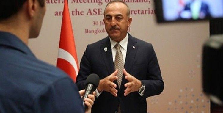 Bakan Çavuşoğlu: 'Biz terörün her türlüsüne karşıyız ve her türlüsüyle mücadele etme konusunda kararlığımız tamdır'