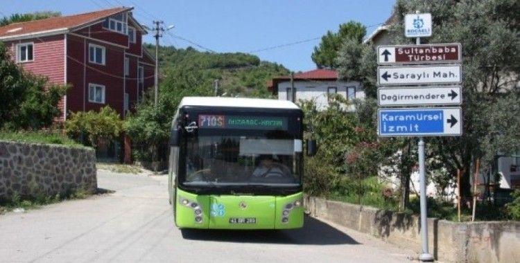 Gölcük'ün aktarmasız iki otobüs hattı vatandaşlara kolaylık sağlıyor