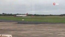 ABD askerlerini taşıyan uçakta korkutan yangın