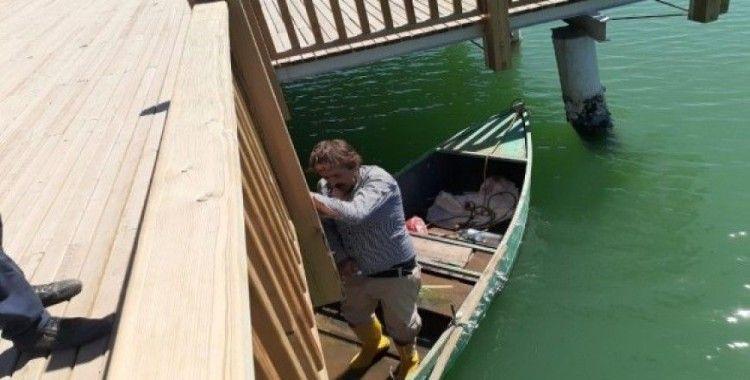 Tahrip edilen iskele onarıldı