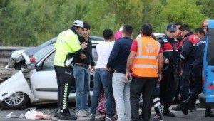 Bolu'da, TEM'de feci kaza, 2'si çocuk 13 yaralı