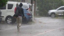 Çanakkale'de sağanak yağış