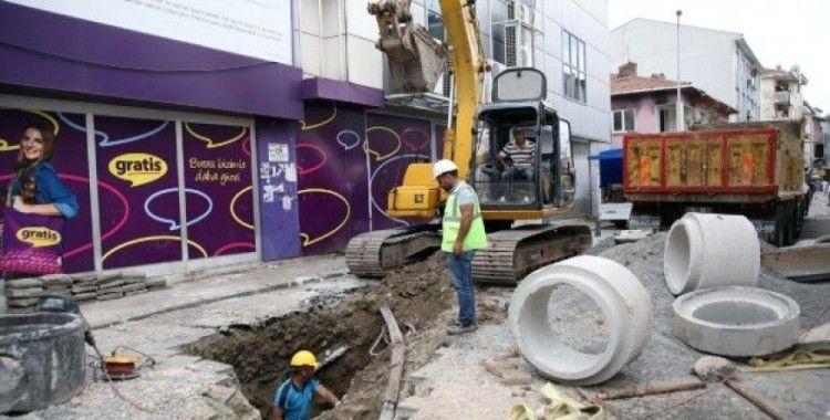 Lüleci Sokak'ta altyapı çalışmaları başladı
