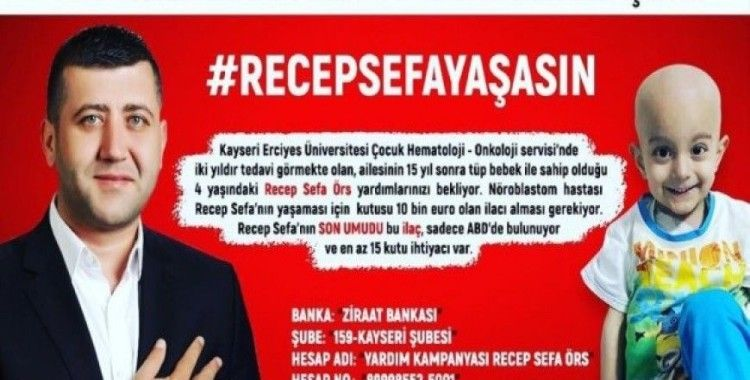 Milletvekili Ersoy, bir maaşını Minik Recep'e bağışladı