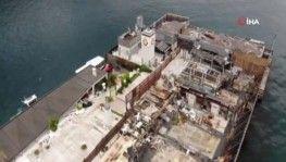 Haciz işlemi başlatılan Galatasaray Adası havadan görüntülendi