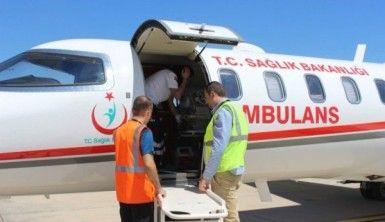 Ambulans uçaklar 9 yılda 13 bin 237 hasta taşıdı