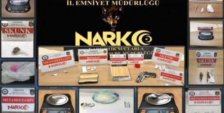Eskişehir merkezli 3 şehirde 18 adrese eş zamanlı uyuşturucu baskını