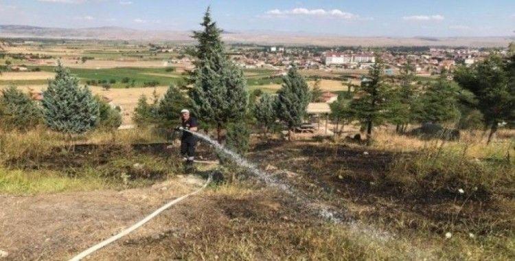 Şuhut'taki orman yangını büyümeden söndürüldü