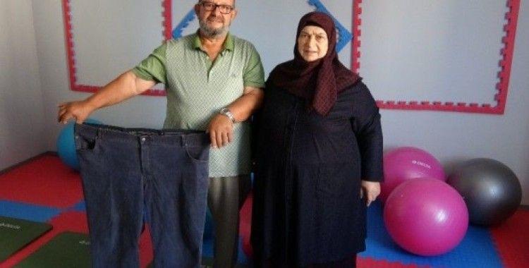 Birbirlerini motive ederek gittikleri obezite merkezinde fazla kilolarından kurtuldular