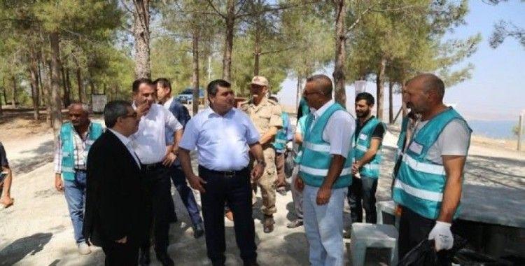 Mahkumlar çevre temizliğine katkıda bulundu