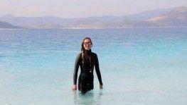 Milli sporcu Rekoru ülkemizde kırmak için Salda Gölü'nü tercih etti