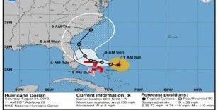 ABD'de Dorian Kasırgası yön değiştirdi