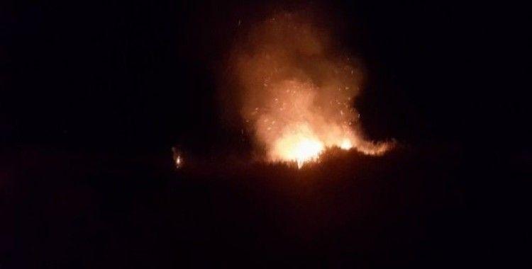 İznik'te çalılık alandaki yangın korkuttu