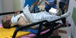 Hurda toplamak için çıktığı inşaatın çatısından düşerek ağır yaralandı