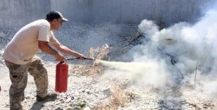 Tarsus Hayvan Parkı'nda yangın tatbikatı