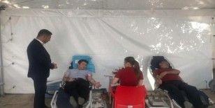 Kaymakamlardan kan bağışına destek