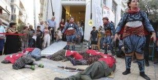 Aydın'ın kurutuluş öyküsü sokak tiyatrosuyla anlatıldı