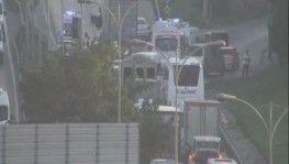 TEM bağlantı yolunda 7 araçlık zincirleme trafik kazası, 1'i ağır 5 yaralı