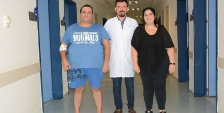 Eşi 6 ayda 40 kilo verince kocası da obezite ameliyatı oldu