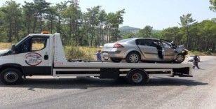 Yoldan çıkan araç sürücüsü hayatını kaybetti