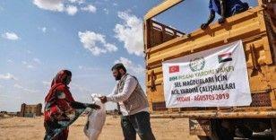 Sudan'da sel mağduru 480 aileye yardım