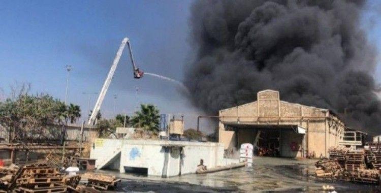 Hayfa Limanı yakınlarında korkutan yangın