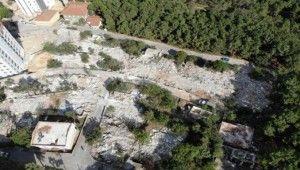 İstanbul'da yıkılan korku evleri havadan görüntülendi