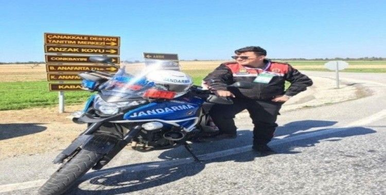 Motosikletli jandarma, kazada şehit oldu