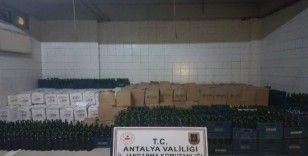 Manavgat'ta 20 bin litre şişelenmiş sahte dolum şarap ele geçirildi