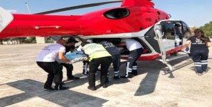 Balıkesir'de helikopter ambulans genç hasta için havalandı