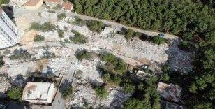 (Özel) İstanbul'da yıkılan korku evleri havadan görüntülendi