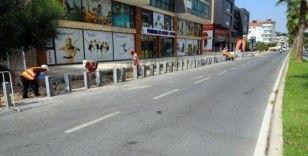 Hasan Ali Yücel Caddesine kaldırım çalışması başlatıldı