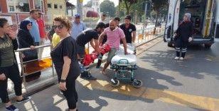 Düzce'de otomobil ile motosiklet çarpıştı: 1 yaralı