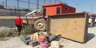 İkiye bölünen traktörlerden yara almadan kurtuldular