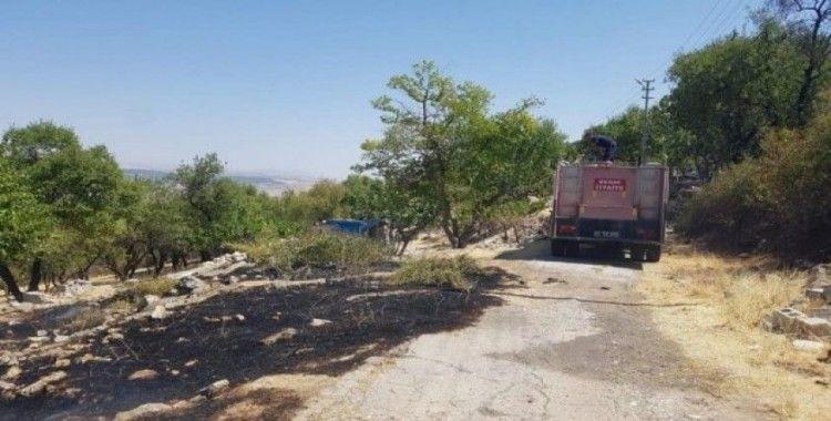 Besni'de anız yangını