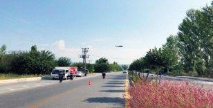 Jandarma trafikten Dalyan yoluna havadan takip