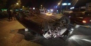 Alkollü sürücü direksiyon hakimiyetini kaybedince kaza yaptı